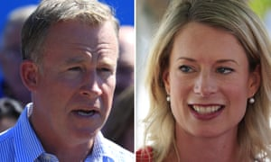 Tasmanian premier Will Hodgman and opposition leader Rebecca White. Both Liberal and Labor have vowed not to form government with the Greens.