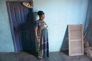 Efua Abrekum, who is in her 50s, at her home in Fetteh