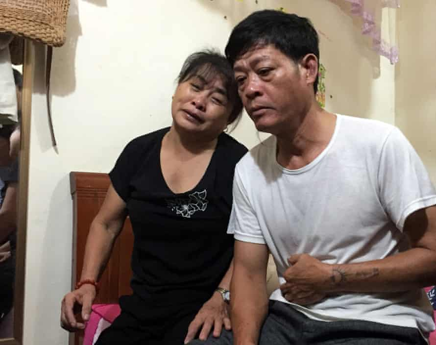 Pham Van Thin and Nguyen Thi Phong, father and mother of Pham Thi Tra My, at their home in Ha Tinh province in Vietnam.