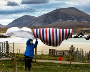 Mary Smith's washing blows in the wind at Cradhlastadh