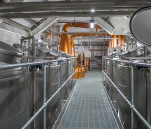 Waiting game: inside the distillery. The first whisky will be ready in 2020.
