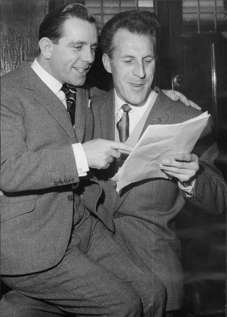 Norman Wisdom and Bruce Forsyth who are to appear in Robinson Crusoe at the Palace Theatre in Manchester.