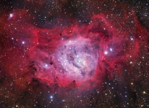 M8: Lagoon Nebula Ivan Eder (Hungary) New stars are formed in the undulating clouds of M8, also commonly referred to as the Lagoon Nebula, situated around 5,000 light years from our planet.