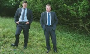 John Nettles, right, and John Hopkins in Midsomer Murders