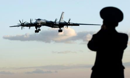 A Russian Tu-95 bomber or 'Bear'