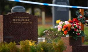 Police have sealed off the grave of Liudmila Skripal and her son in Salisbury.