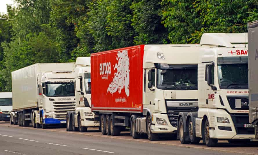 HGVs in a layby