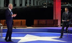 Joe Biden speaks at a NBC Town Hall at Pérez Art Museum in Florida on Monday.