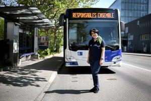 Lausanne, Switzerland: Yamileth Parra, bus driver