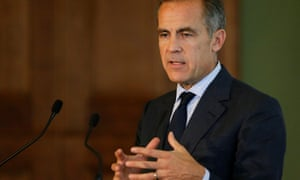 The governor of the Bank of England, Mark Carney, is threatening a rise in interest rates.
