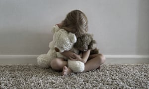Girl with teddies