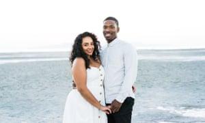 Roo Yeshpaul Johnson with her husband Tyler Johnson.