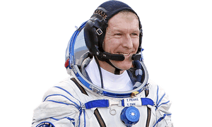 British astronaut Tim Peake, member of the main crew of the expedition to the International Space Station (ISS), walk to report to members of the State Committee prior to the launch of Soyuz TMA-19M space ship at the Russian leased Baikonur cosmodrome, Kazakhstan, Tuesday, Dec. 15, 2015.  Cutout of: 6be3d1a946591b85b90e0b805ec7e84271622530