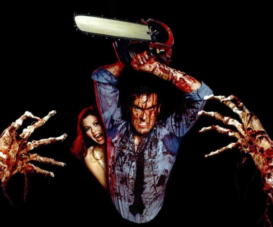 Theresa Tilly and Bruce Campbell in 1981's The Evil Dead