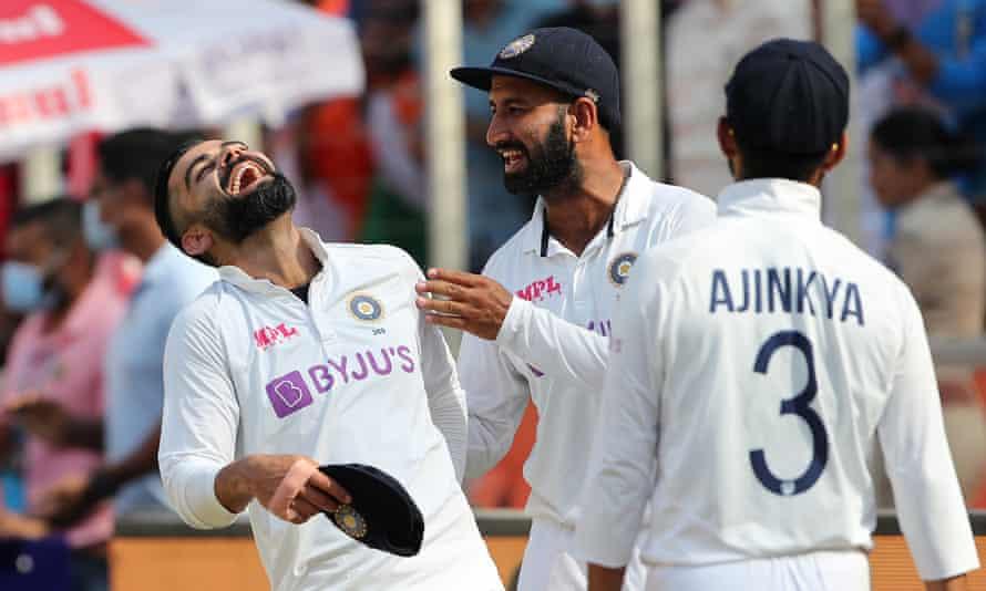 Virat Kohli, Cheteshwar Pujara and Ajinkya Rahane enjoy beating England.