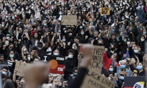 A Black Lives Matter protest in Sydney on June 6