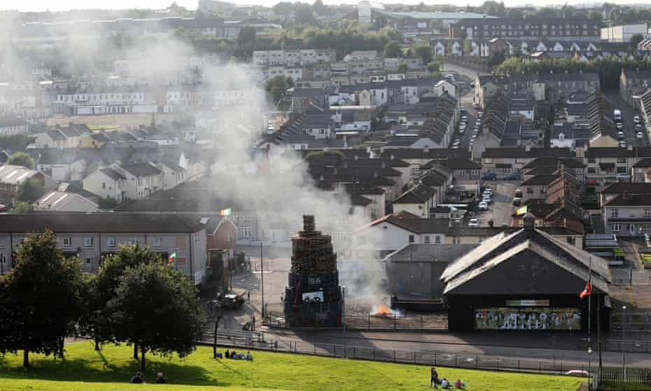 Bonfire in Bogside