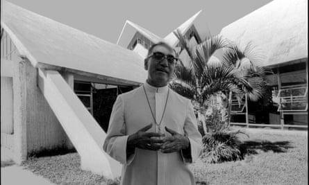 Oscar Romero at home in San Salvador on 20 November 1979.