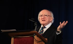 President Michael D Higgins speaking at the Liverpool Irish Centre