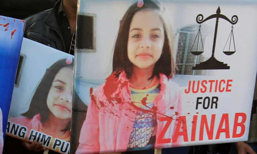 Protests in Lahore after the murder of Zainab Ansari in 2018. The case has prompted a major legal reform
