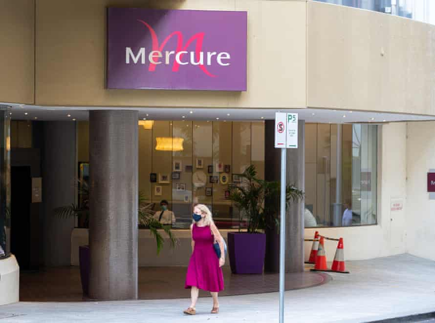 The virus spread in the corridors of the Mercure quarantine hotel in Perth, infecting a man who was staying adjacent to a couple with the virus who had returned from India.