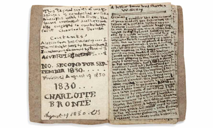 Literary gem … the miniature book made by 14-year-old Charlotte Brontë.