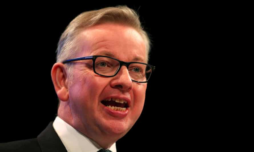 Michael Gove speaking at the Conservative party conference in Manchester on Monday