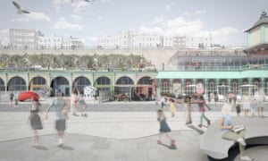 A render of how Madeira Terraces in Brighton could look if crowdfunding is successful.