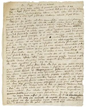 Isaac Newton's manuscript notes on reading Jan Baptist van Helmont's De Peste