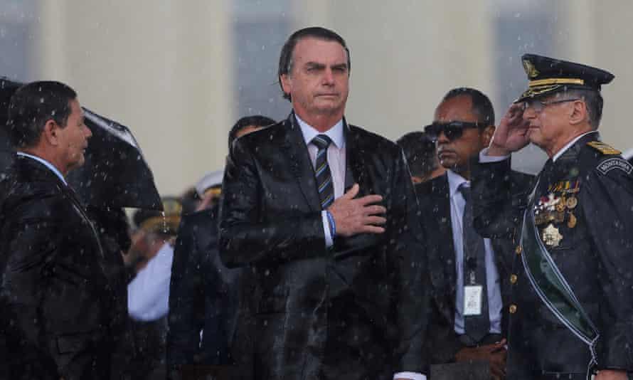 Jair Bolsonaro at an Army Day ceremony in Brasília