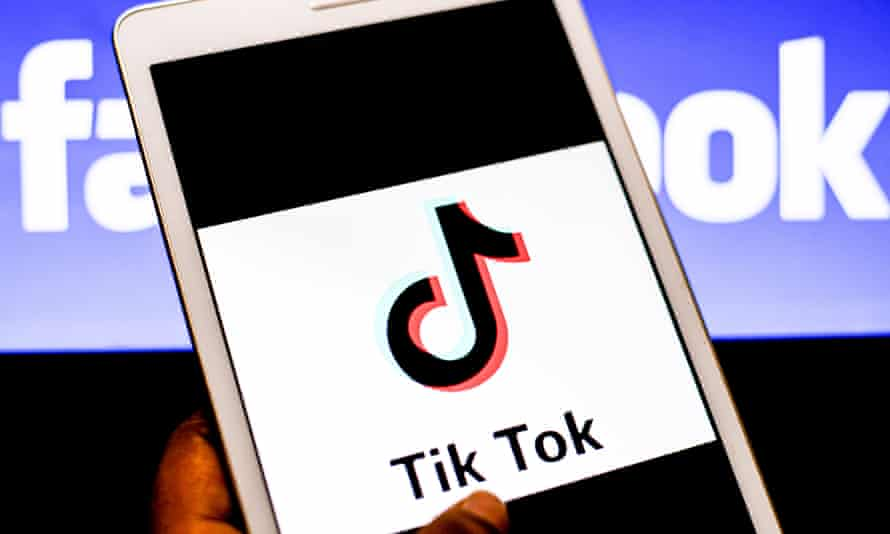 Phone screen showing the TikTok app