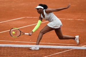 Williams plays a forehand return.