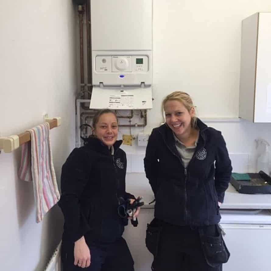 Two female plumbers