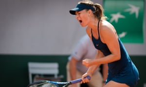 Maria Sharapova found it tough before beating Donna Vekic 7-5, 6-4 at the French Open.