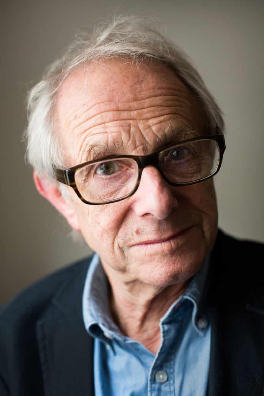 Head shot of film director Ken Loach