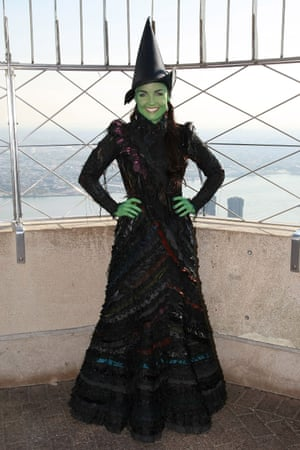 Kerry Ellis took over from Menzel as Elphaba in London and also played the part in New York. Here, she attends an Empire State Building event to celebrate the show's fifth birthday on Broadway.