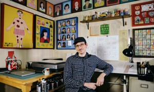 'I didn't consider what the near future might look like': Nick Drnaso photographed in his Chicago studio/home