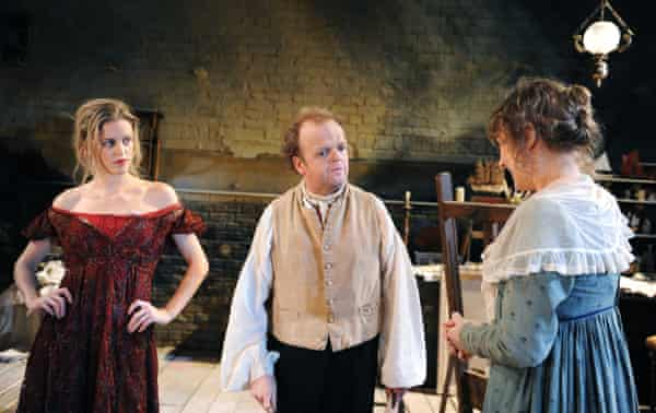 'Who is that actress playing the tiny part of the prostitute?': Denise Gough, left, with Toby Jones and Niamh Cusack in The Painter at the Arcola, 2011.