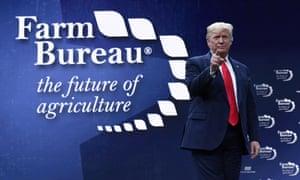 Donald Trump speaks at the American Farm Bureau Federation's 2020 convention.