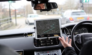 The Land Rover autonomous car, being demonstrated in Milton Keynes last week.