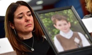 Francine Wheeler, mother of Ben Wheeler, 6, who was killed in the 2013 Sandy Hook Elementary School shooting, on Capitol Hill Wednesday.