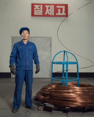 Yu Gyong Il, worker at Pyongyang wire and cable factory (October 2017)