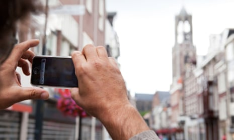Using a smartphone in Utrecht, where €80m has been invested in data-driven management.