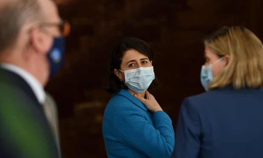 NSW premier Gladys Berejiklian and chief health officer Kerry Chant at a press conference in Sydney on Thursday after the state recorded more than 1,000 cases.