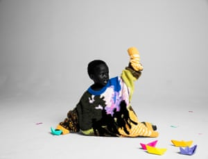 Anyieth as the Statue of Liberty. Designer Virgil Abloh for Louis Vuitton Campaign, 2019