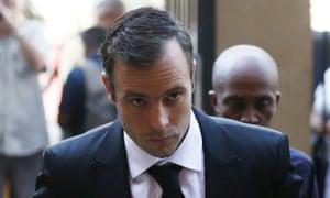 Oscar Pistorius arriving at court.