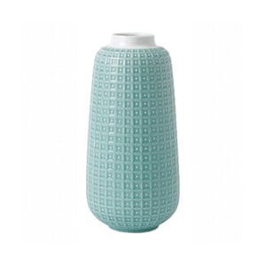Blue embossed porcelain vase