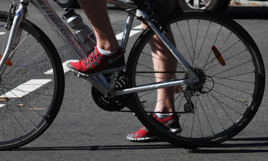 A cyclist
