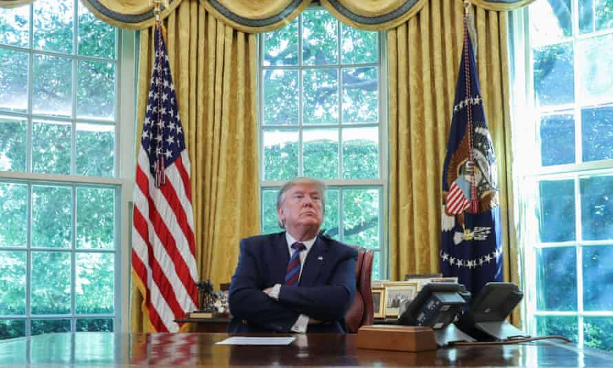 Donald Trump in the Oval Office in July 2019.