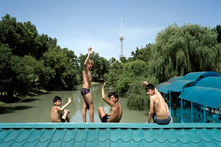 Photographer Marco Barbieri took this image of the canals crossing Tashkent, the capital of Uzbekistan, last year. In the background the Tashkent Tower is visible.